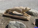 Sculpture de loup: Parc Alpha