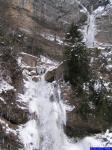 PICT0745-route: La cascade sortant du canyon des Ecouges photographiée depuis le Pont de la Cascade.
